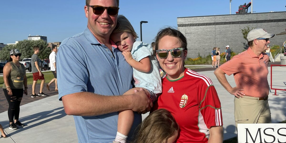 Katie Rosell MD and Scott Rosell with Ellie and Evie