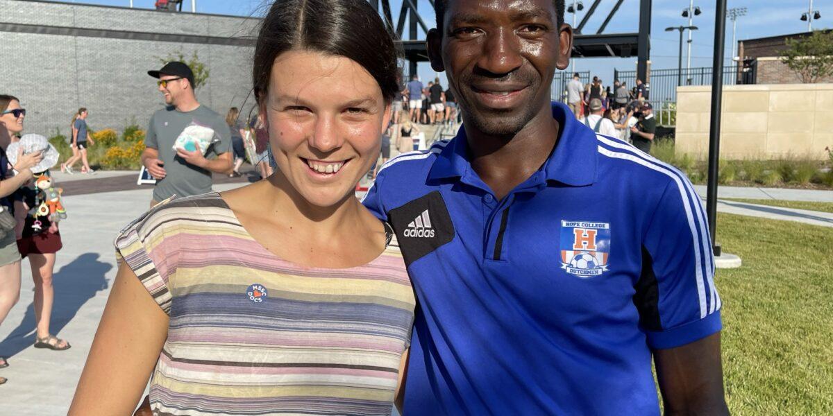 Lize Loubser MD and friend Tarow Konbloa