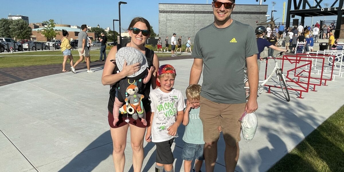 Mariah Kriwiel MD with Toby Kriwiel and Titus, Bennett and Willow